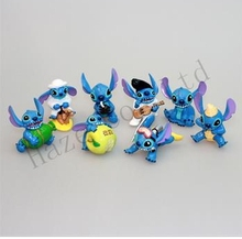"New 8pcs Lilo & Stitch Small Toy Collection Figure 2″ ""Elvis"" Figures Wholesale"