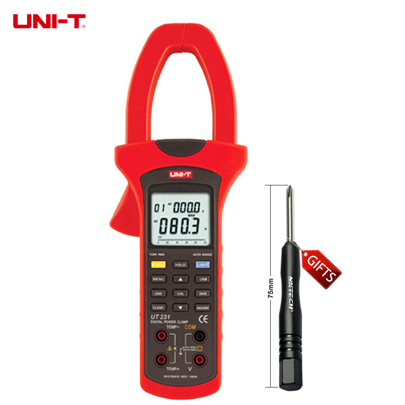Professional UNI-T UT231 Digital Power Clamp Meter with True RMS AC Voltage/AC Current Meter