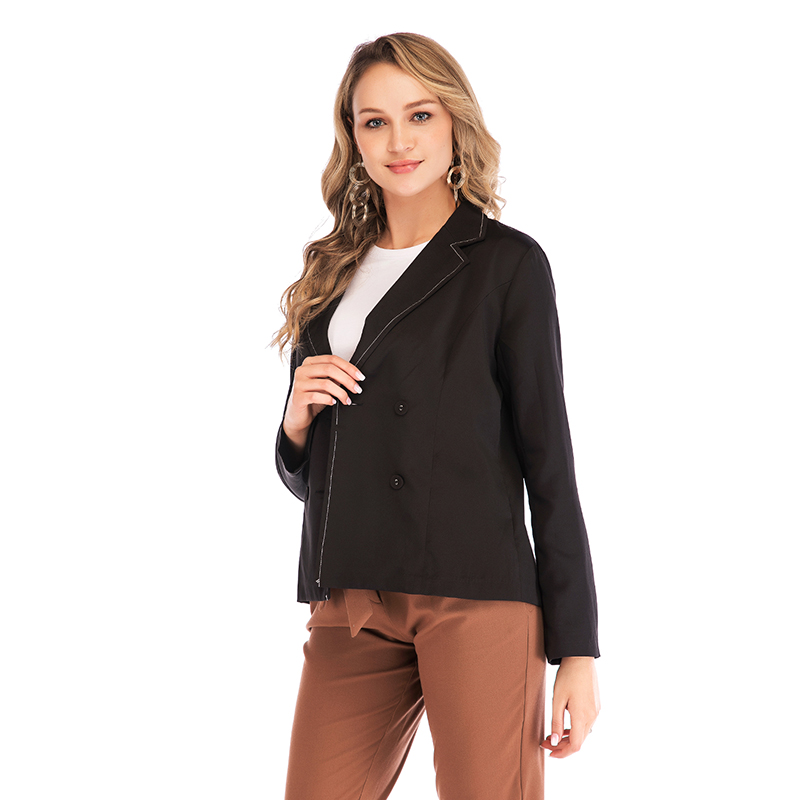 Mostnica Breasted Notched Office Ladies Blazer Long Sleeve Loose OL Business Suit Coat Jacket Formal Women Blazers Female 2019