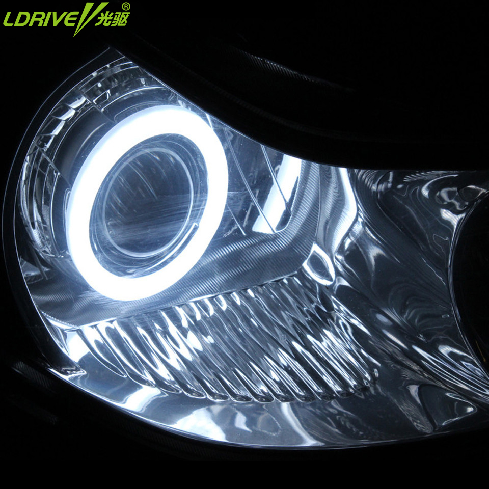 2PC/lot Cotton Super Bright auto Angel Eyes LED Halo Rings Running Light DRL Car Headlight angel eyes led 60-120MM universal car the two penny bar