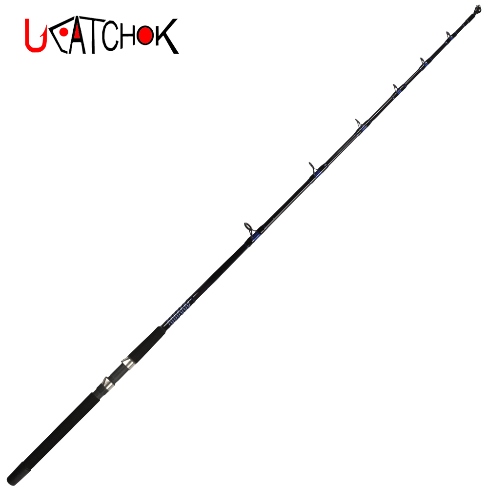 2pcs/pack 1.65M 50LB heavy jigging rod single section boat trolling rod powerful drag force pesca big game fishing gear tackle ucok 1pcs pack 1 65 1 85m double sections heavy pound no 80 heavy jigging fishing boat rod super drag big game type carbon rod