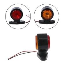 1 Pair Double Face Turn Signal Light Side Marker Lamp for Trailer Truck Lorry Caravan Van 10-30V