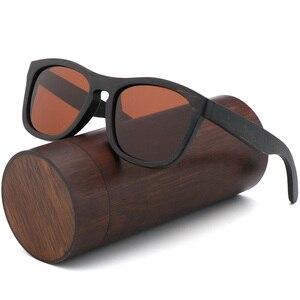 Image 5 - Retro uomini donne occhiali da sole polarizzati Nero Per Bambini in legno Coppie occhiali da sole fatti a mano UV400 Con scatola di legno di bambù
