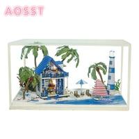 Diy Glass Hut Manual Assembling Building Model Toy Send Girls Birthday Gift Ideas