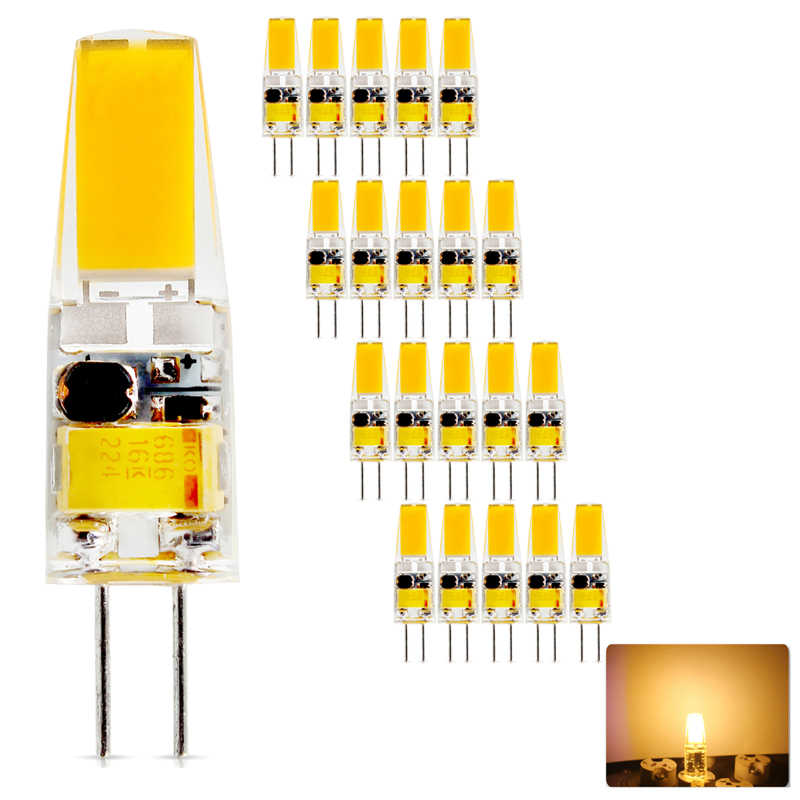 20PCS/lot High quality 3W 6W COB LED G4 led Bulb 360 Beam Angle Bombillas Replace Halogen Chandelier Lights Mini G4 LED