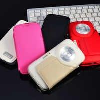 Für Samsung Galaxy K Zoom Fall 100% Original TPU Gel Weiche Rückseitige Abdeckung Mit PU Leder Für C1158 C1116 Freies verschiffen
