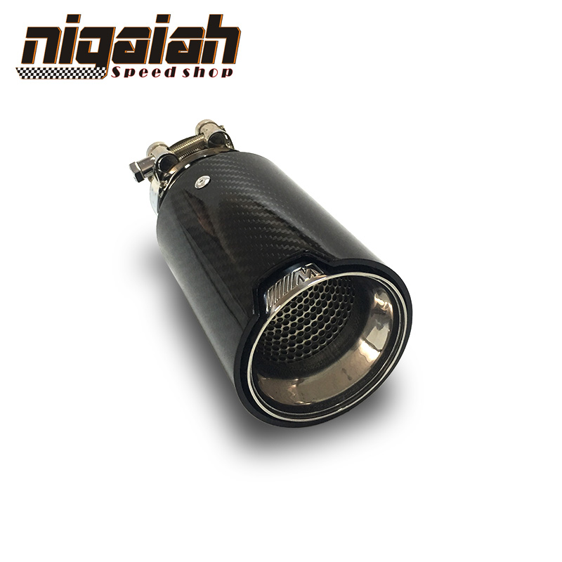 Brand New TOP quality Car Real Carbon Fiber Mesh Inside Exhaust End MP Tips for BMW