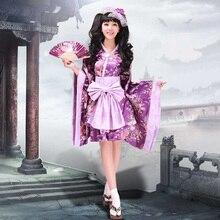 Free shipping Women's Cos Japanese Kimono Cute Lolita Cosplay Kimono Costumes lolita cosplay costume