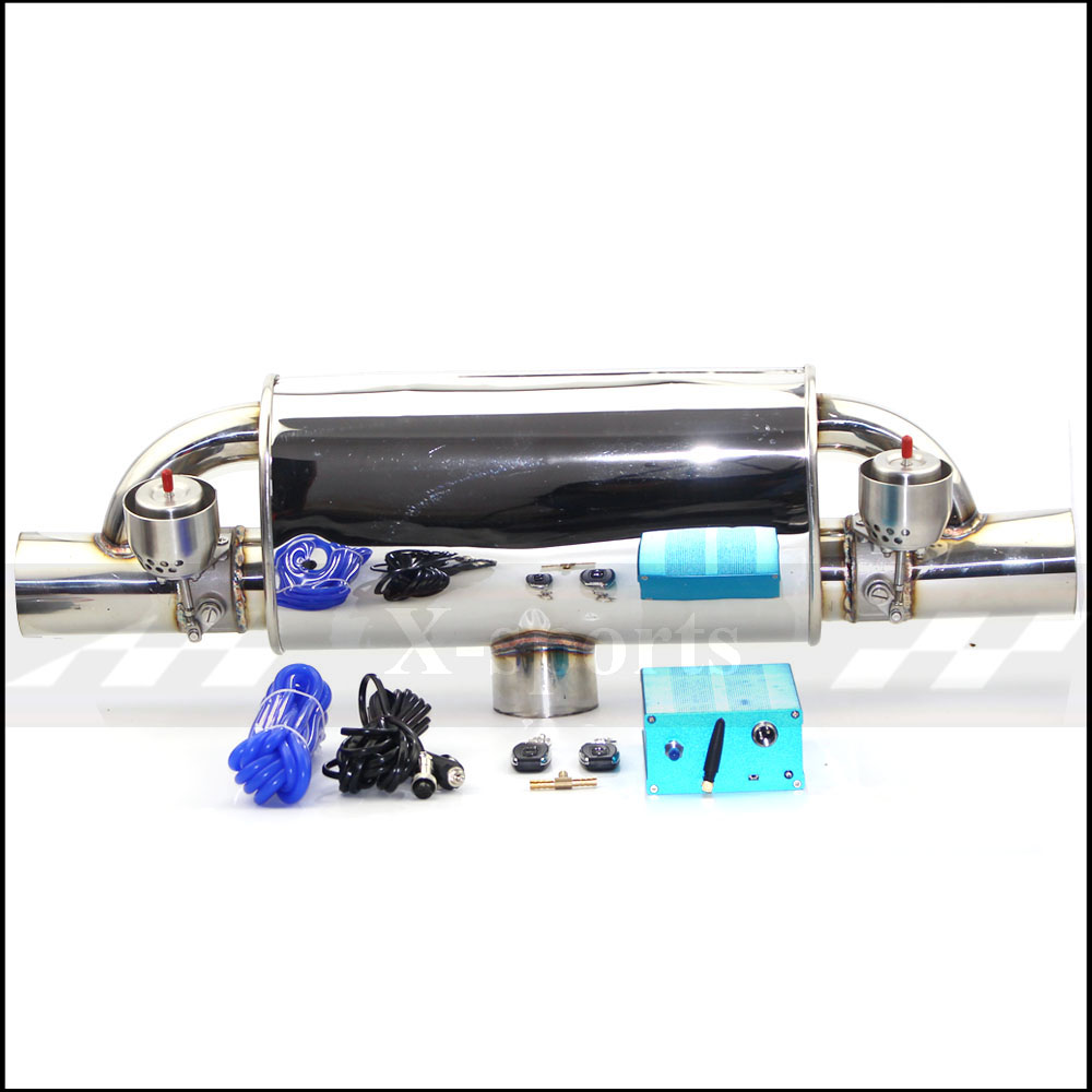 Araba egzoz borusu vakum pompası değişken vana susturucu uzaktan kumanda paslanmaz çelik evrensel ID 51mm 63mm 76mm T şekli 400mm