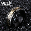 Beier 316L Stainless Steel  good detail men simple ring Fashion Jewelry  BR-R050