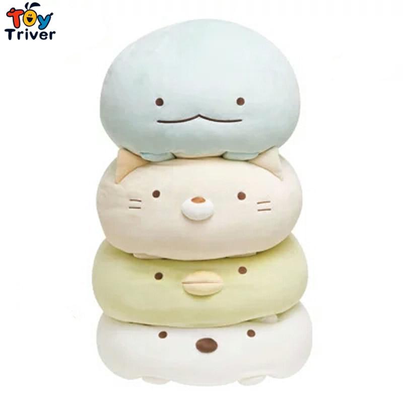 1pc Japanese Animation Sumikko Gurashi Doll San-X Corner Bio Pillow Cartoon Plush Toy Kids Birthday Christmas Gift Triver