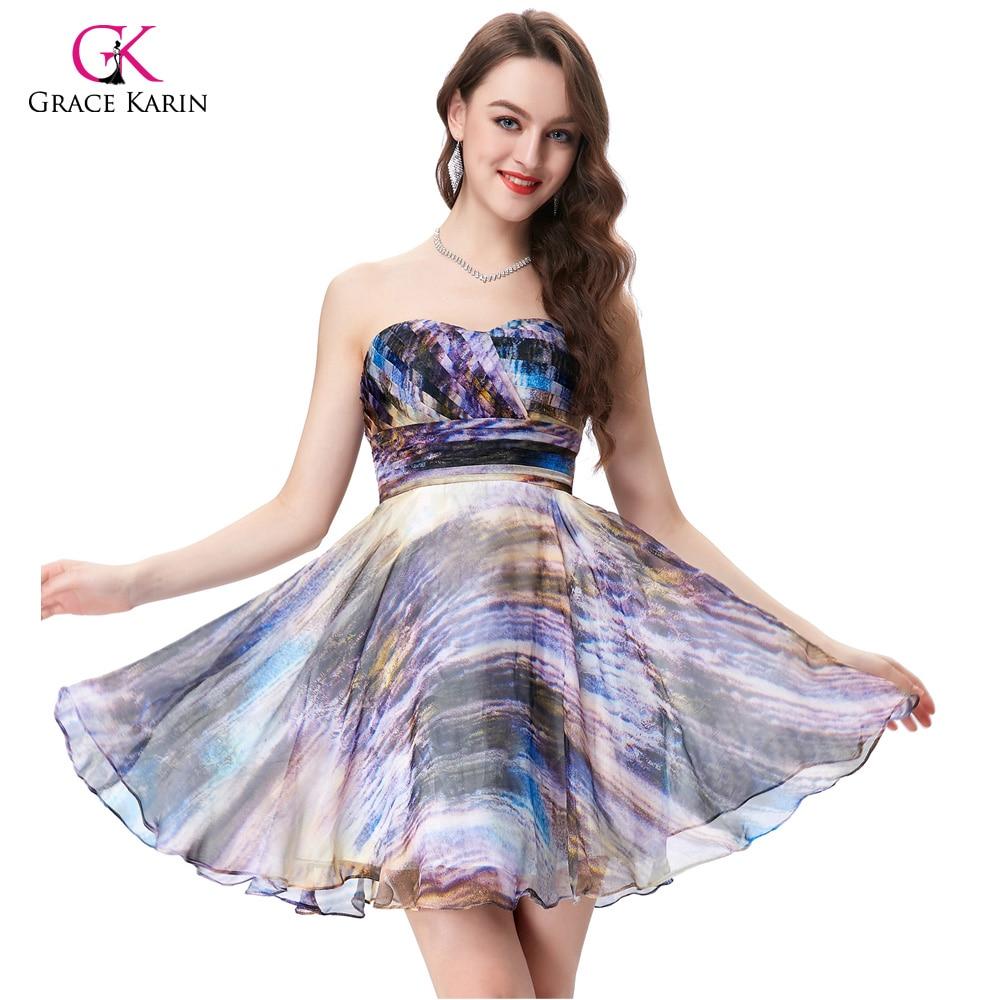 Grace Karin Cocktail Dresses 2018 For Wedding Women Sleeveless