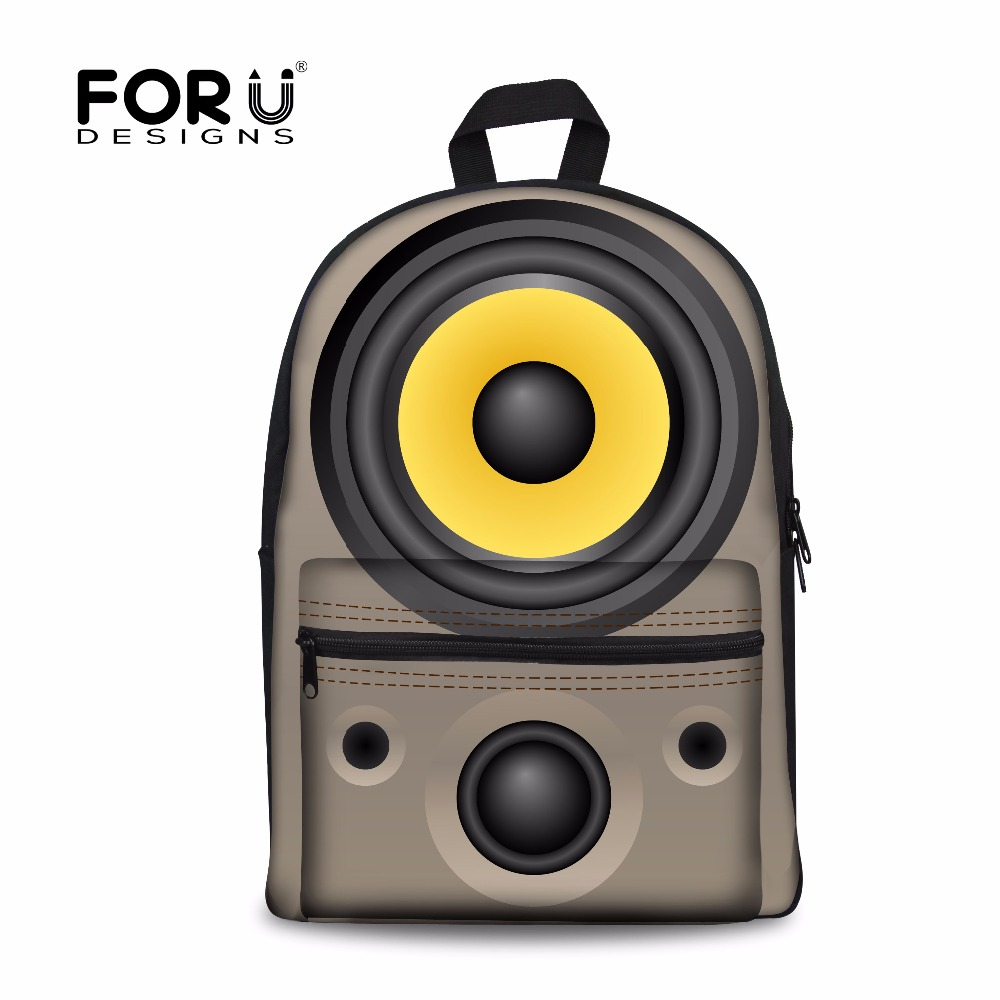 Forudesigns/3D звук печатных холст школьный для Для женщин Mochilas Повседневное подросток Обувь для девочек школьная Рюкзаки дорожная сумка рюкзак