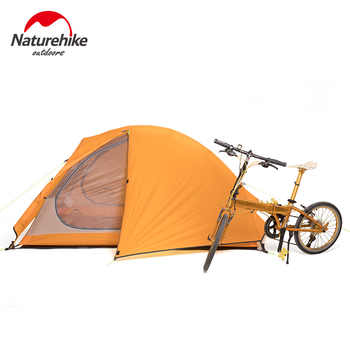 Naturehike 2 Person Ultralight Backpacking Cycling Tent 20D Silicon Tents Double layer Base Camp Sleeping Tent Hiking Climbing