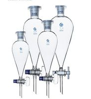 500ml 24 29 Joint Chemistry Laborotary Glass Pear Shaped Separatory Funnel With PTFE Stopcock Free Ship