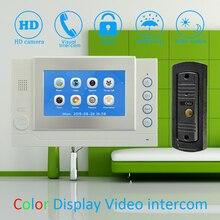 """(1 Set) 7"""" Color Touch Monitor Home Improvement Video Door Phone Home Security Digital Doorbell Door Access Control Intercom"""