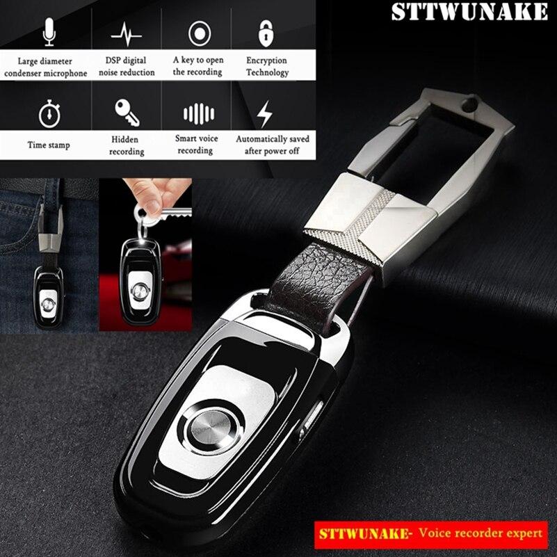 STTWUNAKE Audio Enregistreur Vocal professionnel Numérique Keychain HD Dictaphone Mini cachée denoise long-distance HiFi Sans Perte MP3