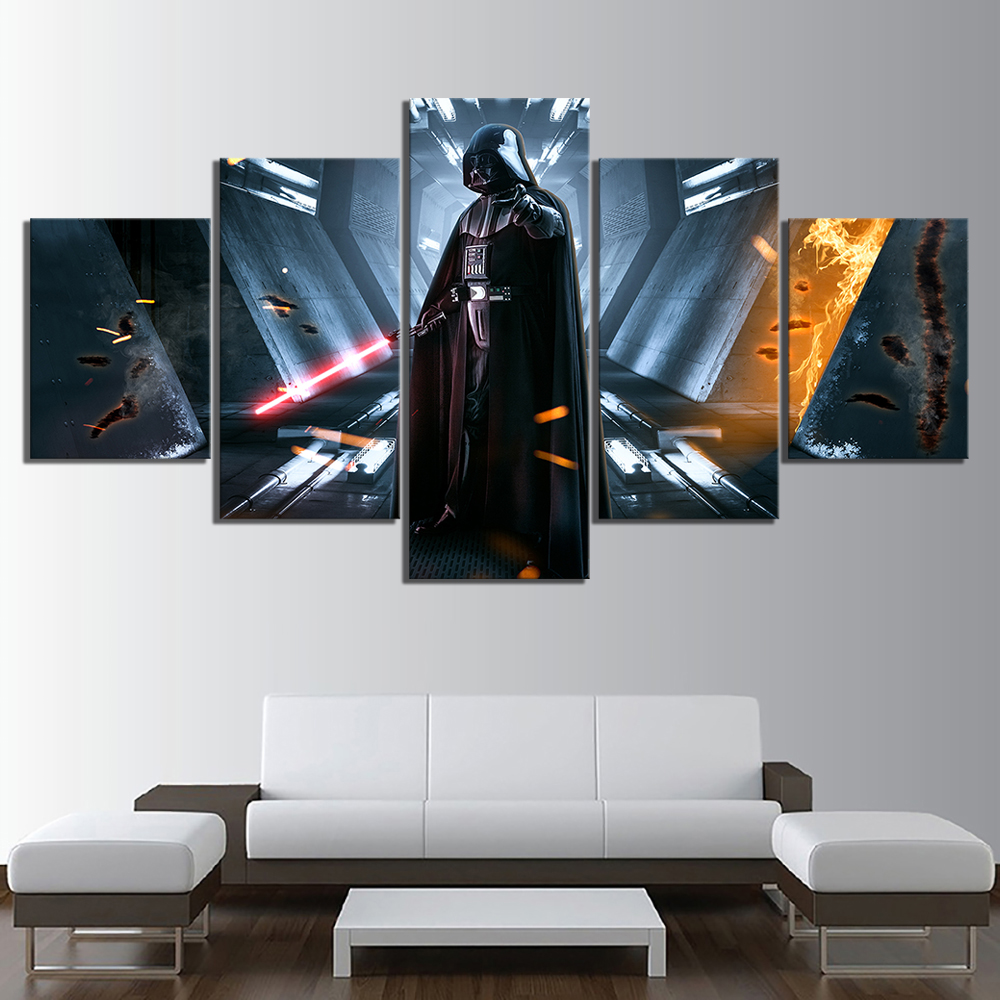 5-Piece-HD-Picture-Darth-Vader-Star-War-Movie-Poster-Painting-Video-Game-Star-Wars-Poster (2)