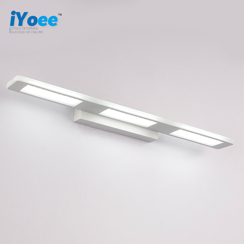 iYoee Morden Anti-fog Waterproof Aluminum Mirror Light LED Bathroom Wall Lamp Brief Indoor Lighting Fixtures Sconce for Home Bed 40cm 12w acryl aluminum led wall lamp mirror light for bathroom aisle living room waterproof anti fog mirror lamps 2131