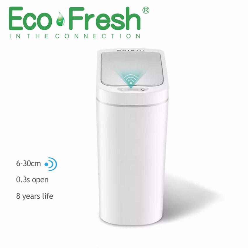 Ecofresh Automatic Touchless Automatic Smart Infrared Motion Sensor Rubbish Waste Bin Kitchen Trash Can