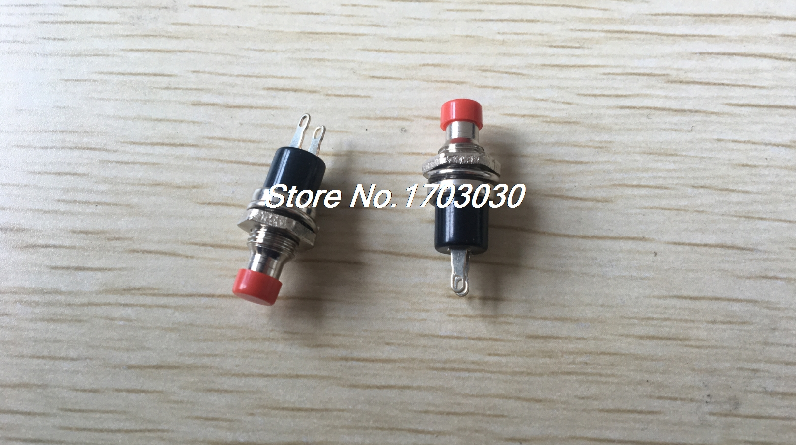 10 pcs Red 2 Pin SPST Off-(On) N/O Round Momentary Push Botton Switch 1A 250V AC 10pcs lockless 0 5a 250v ac momentary on off 2 pin push button spst mini switch red