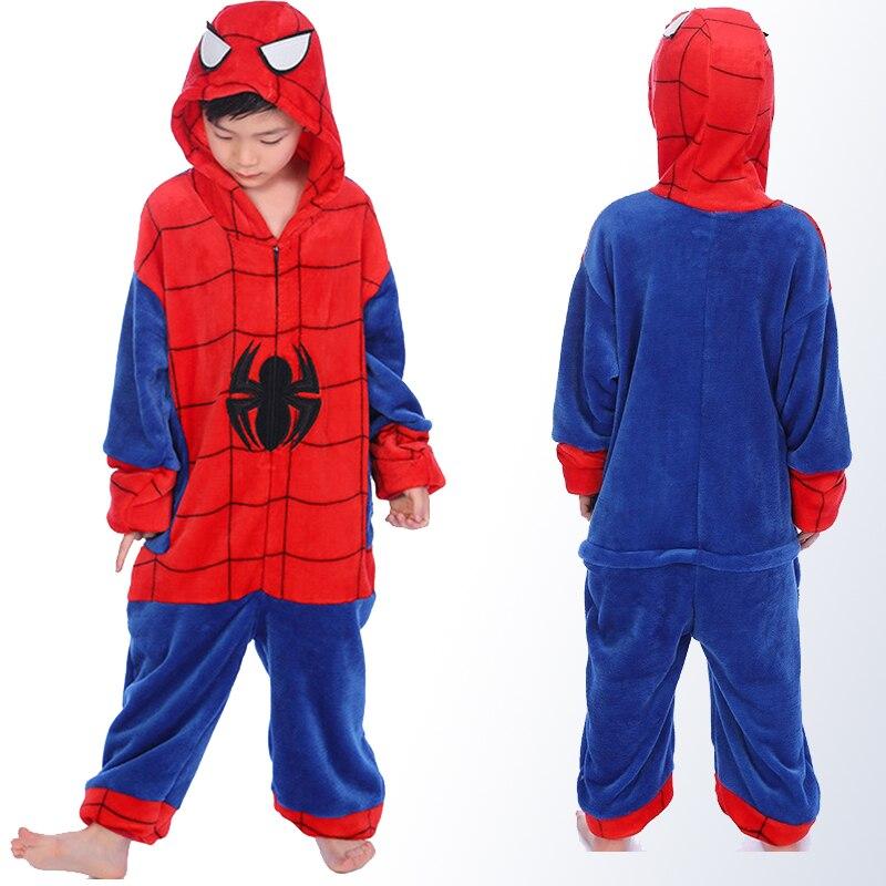 446080206577 Cheap Ropa de dormir Animal niño niña invierno Spider Man pijamas con  capucha dibujos animados Cosplay