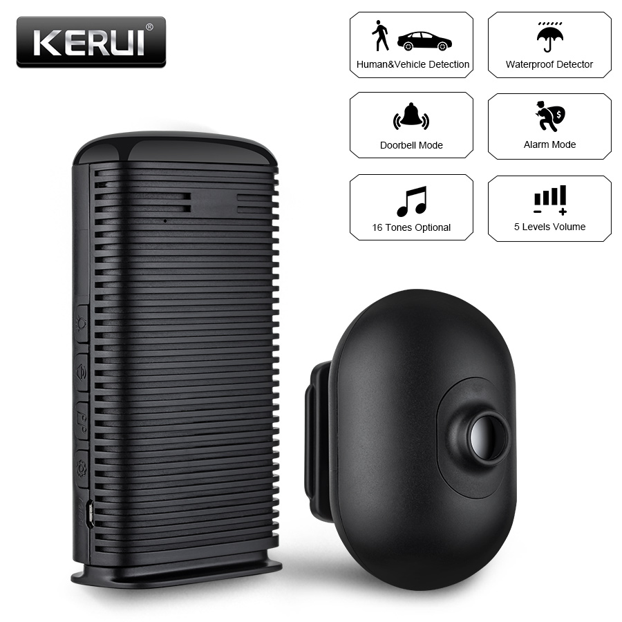 KERUI DW9 Wireless Security Alarm Waterproof PIR Motion Sensor Detector Driveway Garage burglar Alarm System купить в Москве 2019
