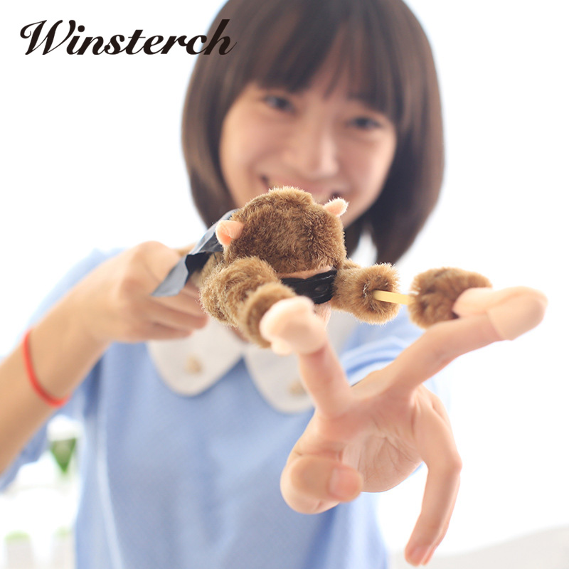 Stretchy Plush Toys Monkey Toys Slingshot Bow Catapult Hunting Kids dolls Adults Slingshot Screaming Flying Animals Toys WW116