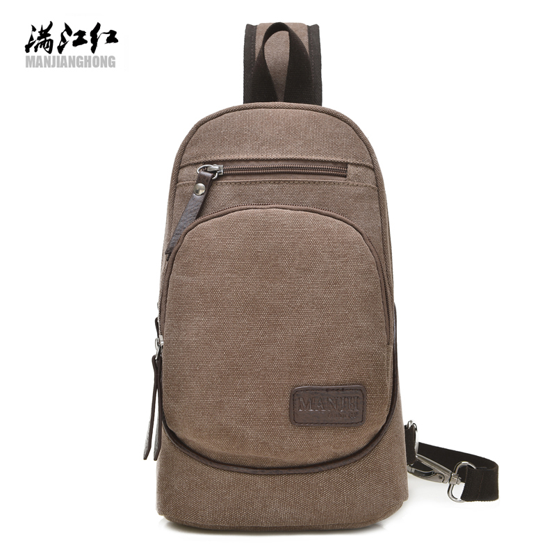 More Pockets Canvas Man Shoulder Bag Spring Summer Fall Winter Sporting+Traveling+Biking Bag Canvas Bag Small Chest Bag 1325 ...
