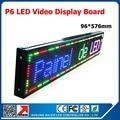 Крытый SMD полноцветный P6 из светодиодов панели программируемый из светодиодов для сообщения 3.8 x 22.7 дюйм(ов) в помещении P6 RGB из светодиодов панель