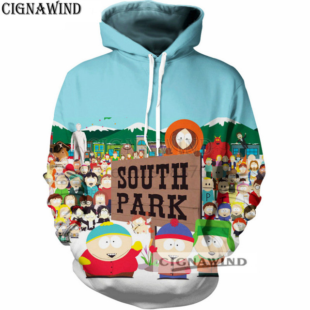 59c1670033b8 New fashion Hoodies Men women Sweatshirts 3D Printed Cartoon South Park Hoodie  funny Pullover tracksuit Unisex Streetwear Tops