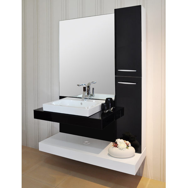 black cabinet for bathroom black and white acrylic block board modern bathroom 17390