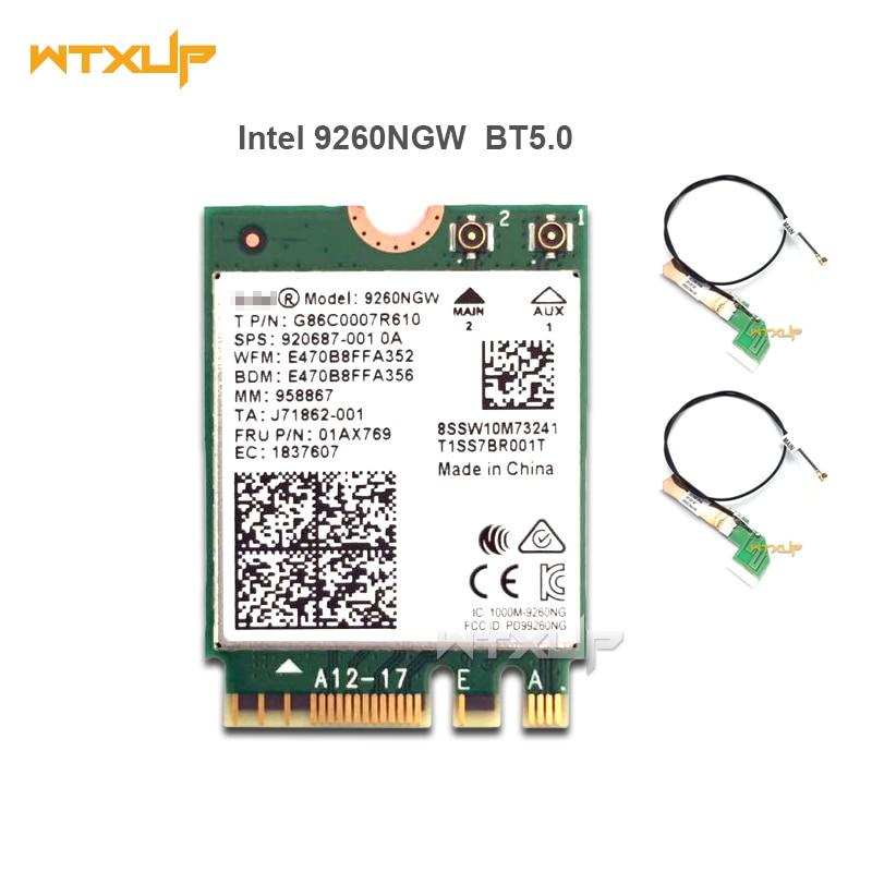 Dual Band PCI-E Wireless Card AC 9260 Intel 9260NGW BT5.0 With External Antenna