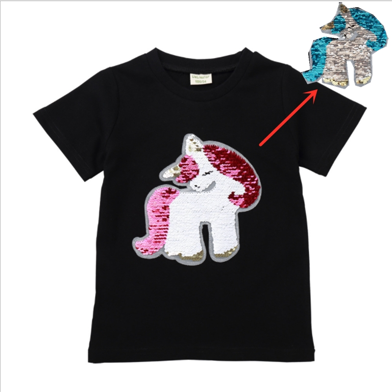 new hot girls tops change color face magic discoloration T-shirts cute sequin unicorn horse pony boy t shirt for girl gifts 2-8Ynew hot girls tops change color face magic discoloration T-shirts cute sequin unicorn horse pony boy t shirt for girl gifts 2-8Y