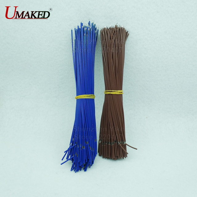 15cm length Brown /Blue color 22AWG Teflon wire, PVC Wire Electronic ...