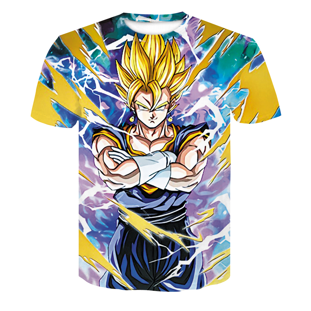 Dragon Ball Z T-shirts Herre Summer Fashion 3D Print Super Saiyajin - Herretøj - Foto 5