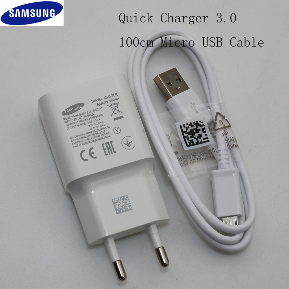 Samsung Travel-Wall-Adapter Micro-Usb-Cable S7-Edge Galaxy Note 1 For S6 J3 J5 J7 9V
