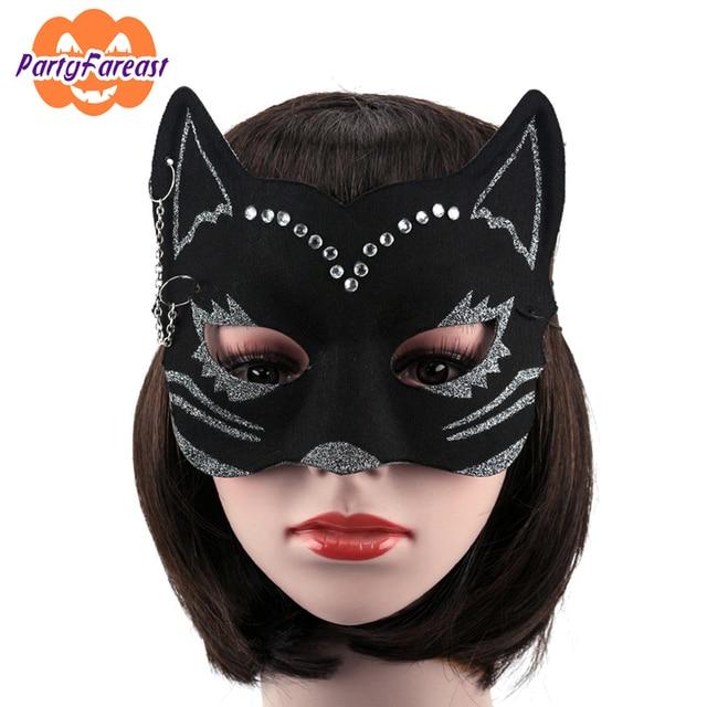 2016 cat woman halloween masks girls party masks women cat animal party masquerade party nightclub girls - Girl Halloween Masks