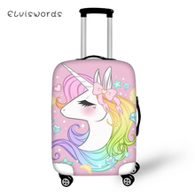 ELVISWORDS Protective Suitcase Cover Cartoon Unicorn Horse Prints Elastic Dustproof Luggage Waterproof Accessories