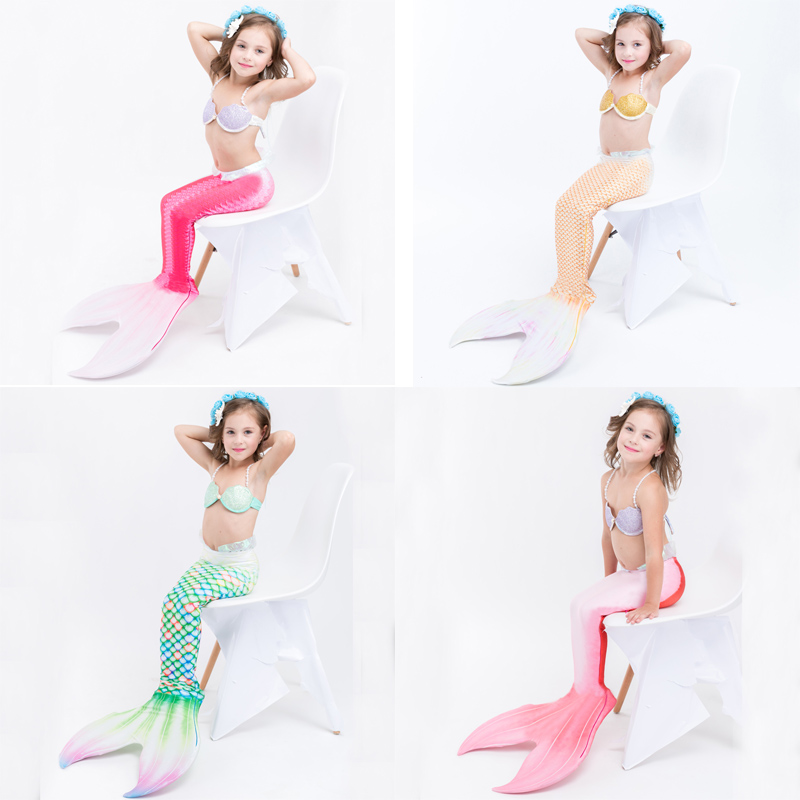 The Little Mermaid Tail Costume Princess Ariel Children Mermaid Tail Cosplay Kids for Girl Fancy Swimsuit hot sell fashin wigs mermaid wig adult princess ariel red wavy cosplay costume big