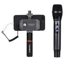 CoMica CVM-WS50H Ручной беспроводной микрофон для смартфона 6 каналов 60 м Рабочий диапазон точное управление видео интервью Подкаст