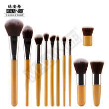 MAANGE 11pcs Makeup brushes Cosmetics Foundation Bulsh Blending Powder Eye shadow Eyebrow Eyeliner Lip Beauty Make Up Tool Set цена в Москве и Питере