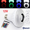 Hot Audio Speaker E27 Colorful Music Playing & Lighting With 24 Keys IR Remote Control Wireless Bluetooth LED Speaker Bulb