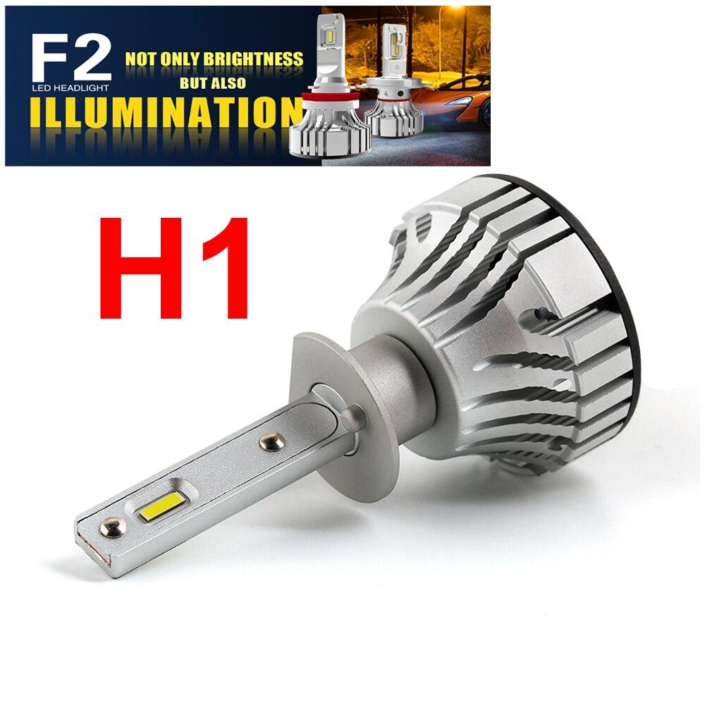 1 Set H4 F2 Car LED Headlight HB2 9003 H1 H7 H8 H9 H11 9005 9006