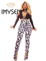 IMYSEN 2017 Letters Printing Leggings Women Bottoms White Summer Autumn Pants Lifit Buttocks Breathable Sexy Leggings