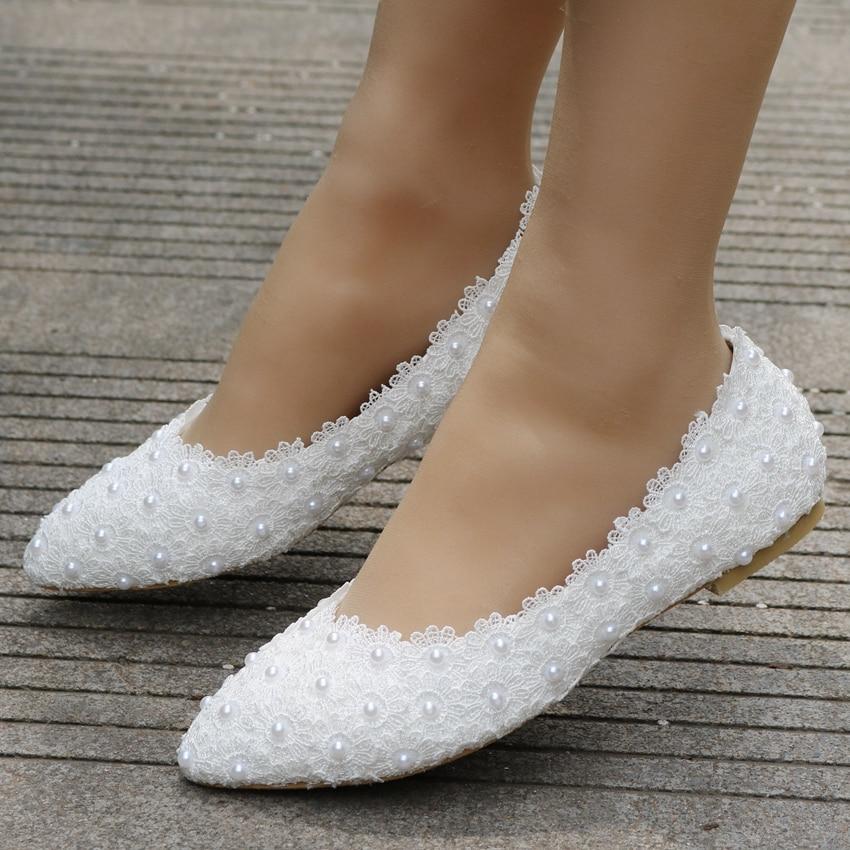 Lace Flat Wedding Shoes