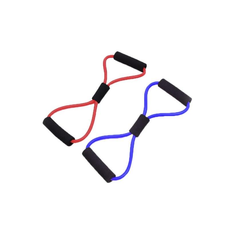 Сопротивление обучение группы Tube тренировки стрейч веревка упражнения для Йога 8-Тип 4 цвета