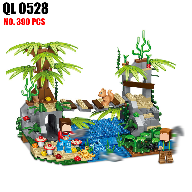 AIBOULLY QL0528 Village Bridge Building Blocks Bricks Figures Castle Kids Toy Minecrafted City Building Blocks Toys For Children 100% new for board controller xqb60 0528 xqb55 0528 0034000808e motherboard