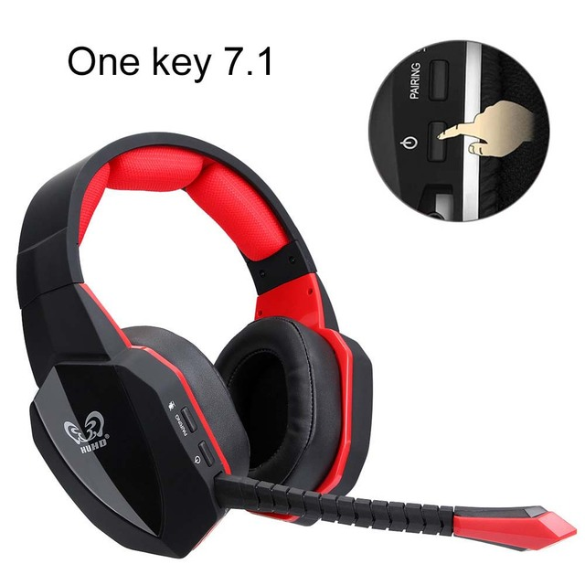 huhd gaming headset 7 1 surround sound channel wireless. Black Bedroom Furniture Sets. Home Design Ideas