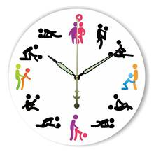 Modern Design Kama Sutra Sex Position Wall Clock For Bedroom Wall Decoration Absolutely Silent Make Love Clock Wedding Gift